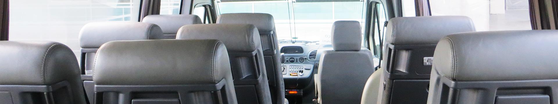 Minibus com motorista - interior